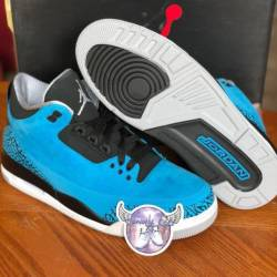 Air jordan retro 3 powder blue...