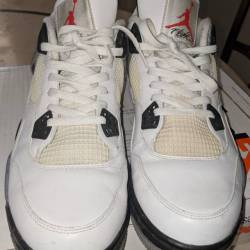 Air jordan 4 white cement size 12