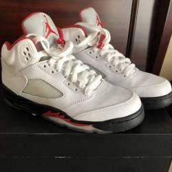 "Jordan 5 ""fire red"" grey tongu..."
