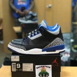 Air jordan 3 sport blue size 9