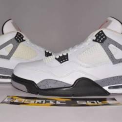 Nike air jordan 4 retro white ...