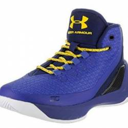Under armour curry 3, blue, 6.5