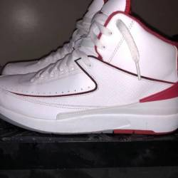 Air jordan 2 white  red