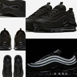 Nike air max '97 triple black ...