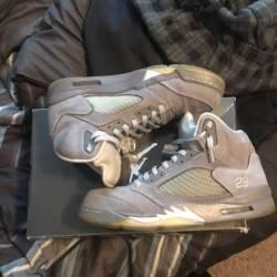 Jordan retro 5 wolf grey