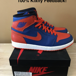 Air jordan 1 knicks blue and o...