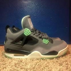 Green glow jordan 4's