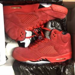 Air jordan retro 5 red suede