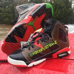 Custom jordan 6s travis $cott ...
