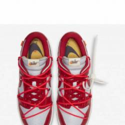 Nike dunk low x off-white red ...