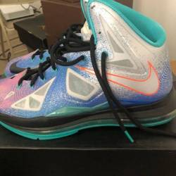 Nike lebron 10 pure platinum