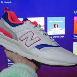New balance 997h white pink blue