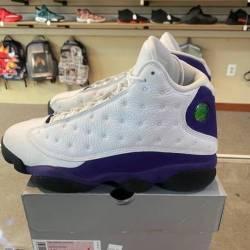 """Jordan retro 13 """"lakers"""" white..."""