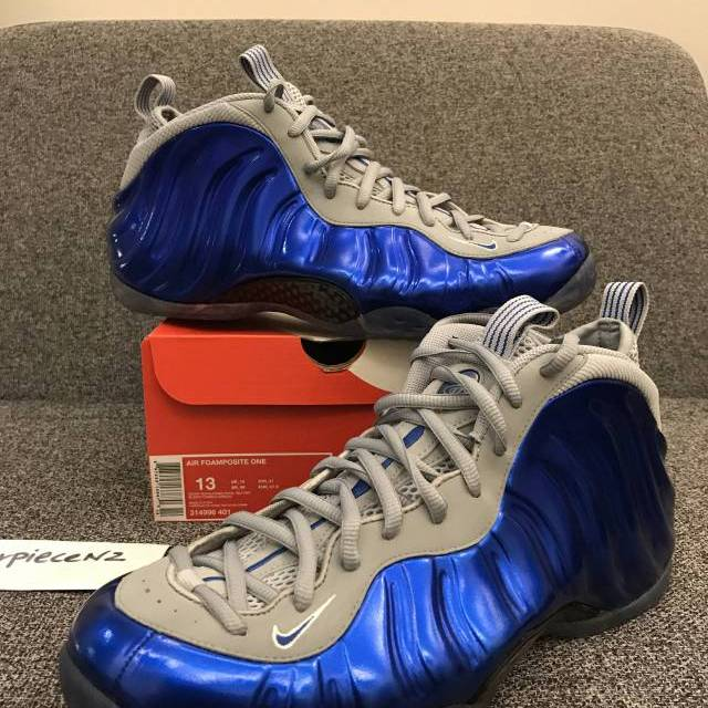 a1952fe4358 New Nike Foamposite One Royal Blue Grey US 9.5 10 12 13