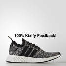 Adidas NMD R2 Grey White Free shipping