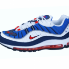 "NIKE AIR MAX 98 - ""GUNDAM"" WHITE / UNI RED (640744-100)"