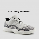 Air Jordan 11 Low Snakeskin Light Bone