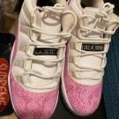 Pink Snakeskin 11s